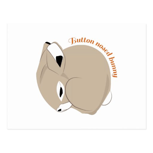 Button Nosed Bunny Post Cards