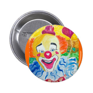 Button Pin Back Happy Clown