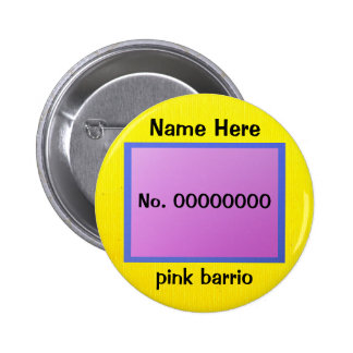 Button - pink barrio - lavender and yellow