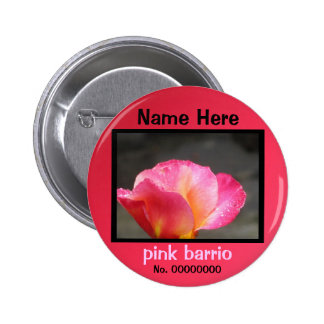 Button - pink barrio - pink-yellow rose