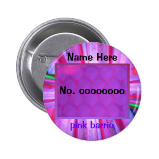 Button - pink barrio - purple red and green