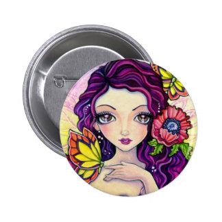Button - Poppy Glamour