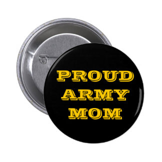 Button Proud Army Mom