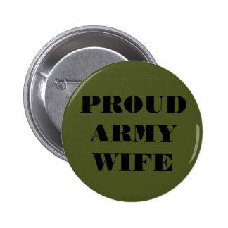Button Proud Army Wife