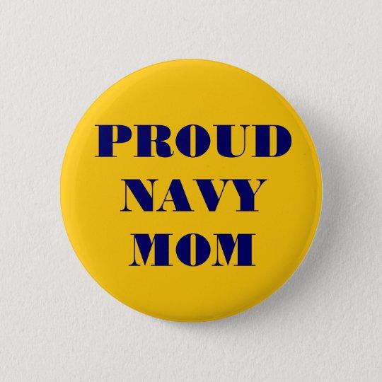 Button Proud Navy Mum