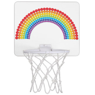 Button Rainbow Mini Basketball Hoop