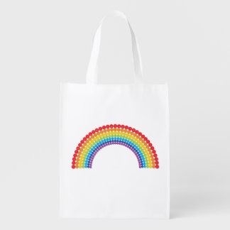 Button Rainbow Reuseable Grocery Bag
