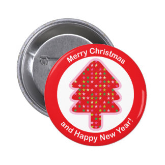 Button Red Christmas Tree