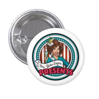 Button:  Red, White, & Booze 3 Cm Round Badge