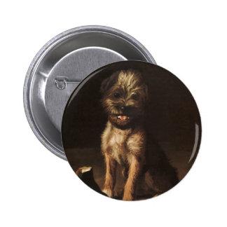 button Reproduction Vintage Portrait of puppy
