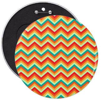 Button Retro Zig Zag Chevron Pattern