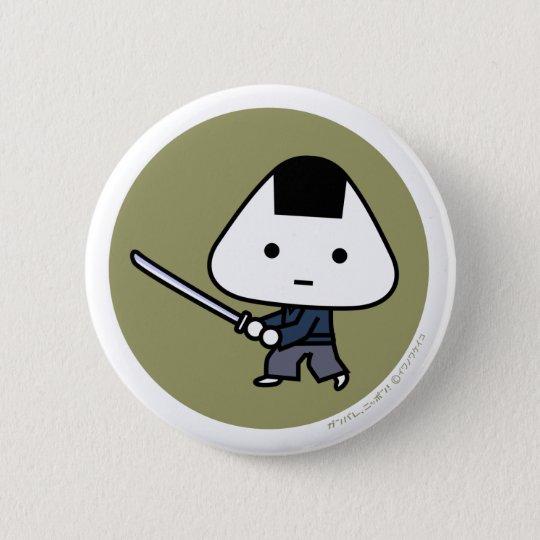 Button - Riceball Samurai - GoldBack