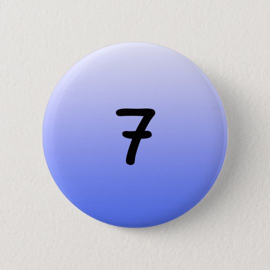 button round blue number seven