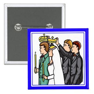Button: Russian Orthodox 15 Cm Square Badge