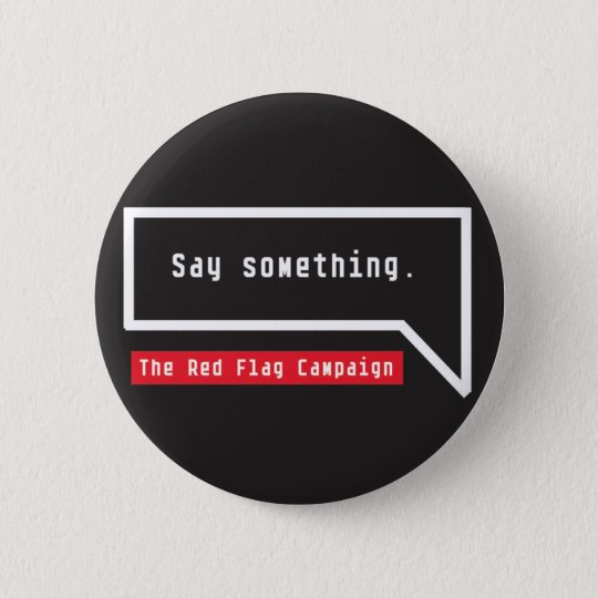 Button-Say Something (bubble quote) 6 Cm Round Badge