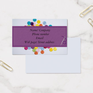 Button sewing business card 8.5 cm x 5.5cm