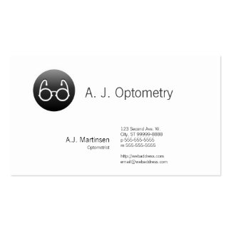 Button Style Old Fashioned Glasses Business Card Template