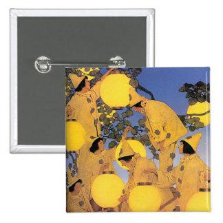 Button: The Lantern Bearers - Maxfield Parrish