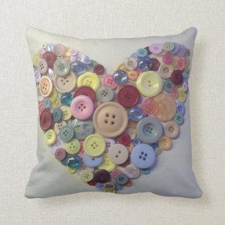 Button Throw Cushion 41 cm x 41 cm