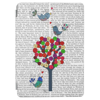 Button Tree and Birds Blue iPad Air Cover
