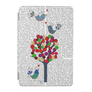 Button Tree and Birds Blue iPad Mini Cover