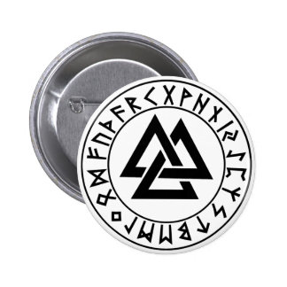 button Tri-Triangle Rune Shield