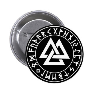 button Tri-Triangle Rune Shield on Blk