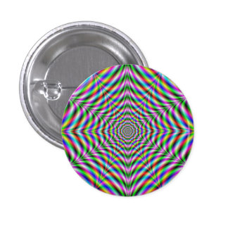 Button   Twelve Pointed Psychedelic Web