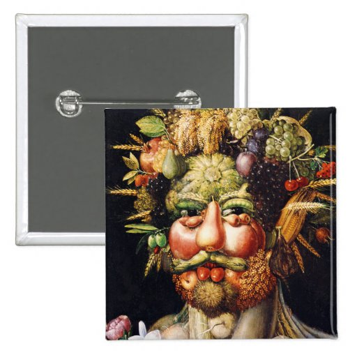 Button: Vertumnus (Portrait of Rudolf II) 15 Cm Square Badge