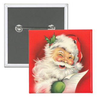 Button - Vintage Santa Claus pin