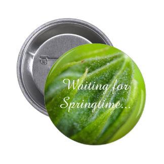 Button: Waiting for Springtime 6 Cm Round Badge