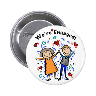 Button We re Engaged