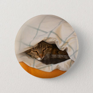 Button with cat in the cushion