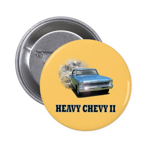 Button With Chevy II Drag Racing Design