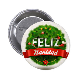 button with Christmas message