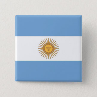 Button with Flag of Argentina