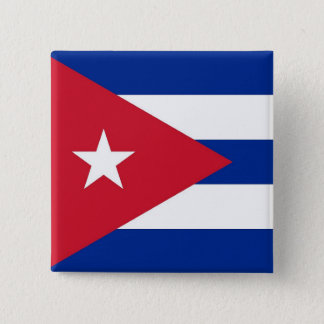 Button with Flag of Cuba