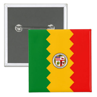 Button with Flag of Los Angeles, California