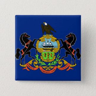 Button with Flag of Pennsylvania