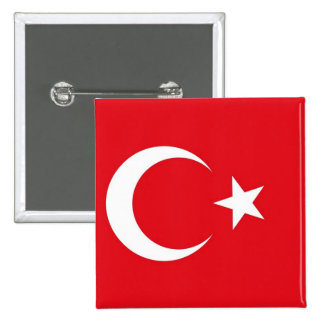 Button with Flag of Turkey