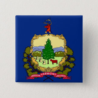 Button with Flag of Vermont