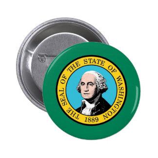 Button with Flag of Washington