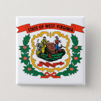 Button with Flag of West Virginia