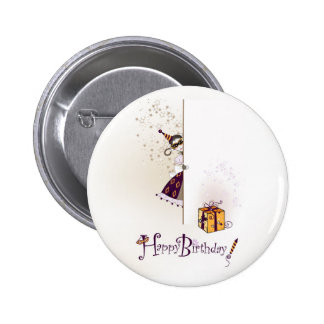 Button  with happy birthday design