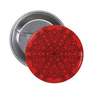 Button with mandala art