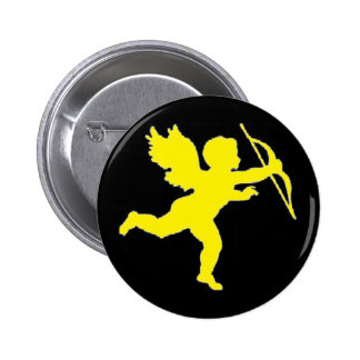 Button Yellow Cupid On Black