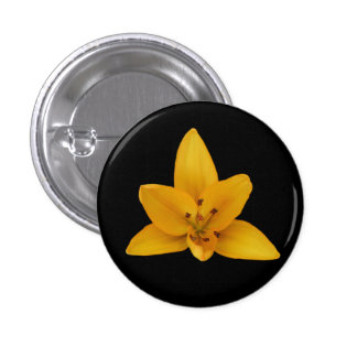 Button, Yellow Lilly