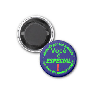 button You is special 3 Cm Round Magnet