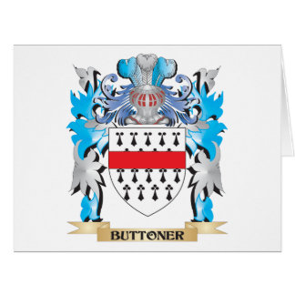 Buttoner Coat of Arms Greeting Card