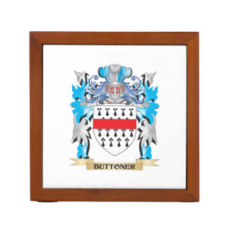 Buttoner Coat of Arms Desk Organizers